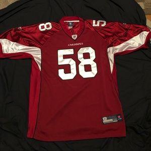 Rare Arizona Cardinals stitched reebok jersey